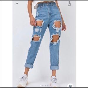 Princess Polly distressed mom jeans